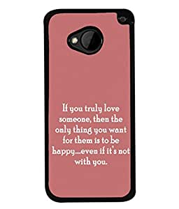 PrintVisa Designer Back Case Cover for HTC M7 :: HTC One M7 (Love Happy Quotes Words Wordings)
