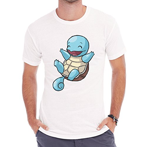 Pokemon Squirtle Water Turtle Back Spin Herren T-Shirt Weiß