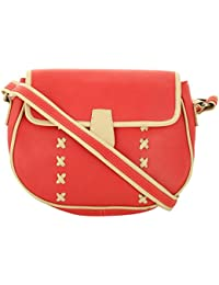 Crafted Bosski Women'S Leather Sling Bag Free Size Red