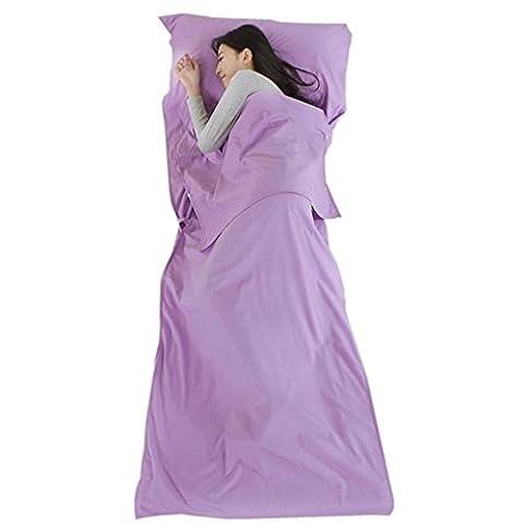 Nola Sang Travel Sleeping Bag Liner 100% Cotton Feuille de camping Ultralight Portable Single Sleep Sack Inside