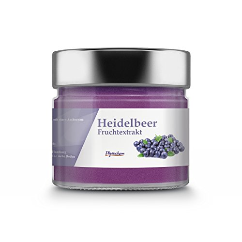 Phytochem Heidelbeer Extrakt Pulver - Premium Qualität, 1er Pack (1 x 70 g)