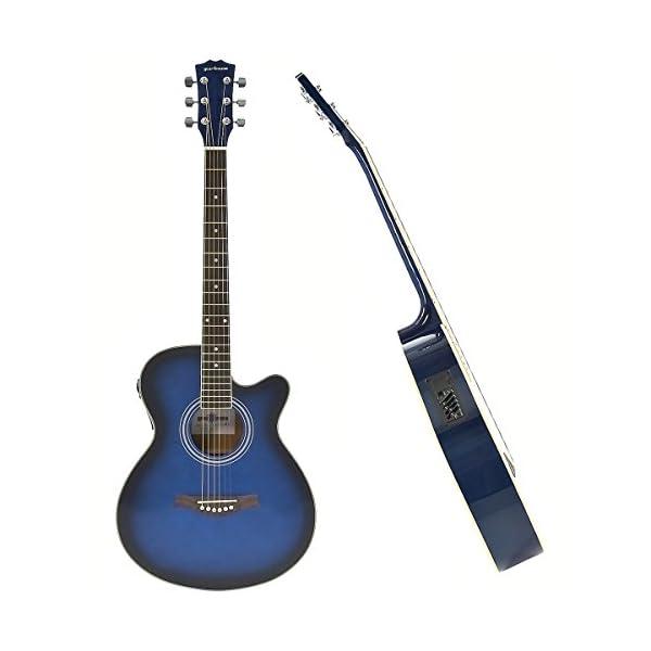 Chitarra Elettro Acustica Spalla Mancante + Pacchetto Ampli 15W Blue
