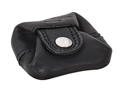 outlet 14211 b05a8 Gusti portamonete in pelle - Linus borsellino da uomo e da donna  portamonete piccolo nero