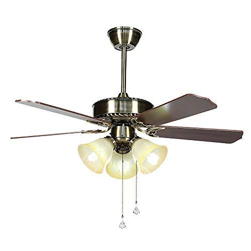 APENCHREN Deckenventilator mit Beleuchtung Fernbedienung/Deckenventilator, 4 Flügel, 65 W, 3 Geschwindigkeiten - für Schlafzimmer, Restaurant und Wohnzimmer (42