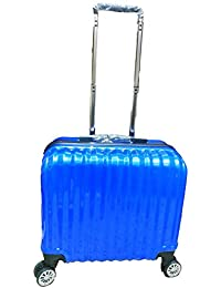 Sinomate 18 Inches Polycarbonate Laptop Trolley Bag With 5 Year Warranty (Blue)