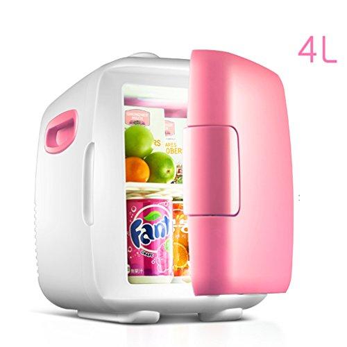 Sunjun 8 / 4L Auto Kühlschrank, Auto Dual-Use Mini Kühlschrank Hot und kalt Dual Use Rapid Cooling 220V AC / 12V DC ( Farbe : Pink , größe : 4L )