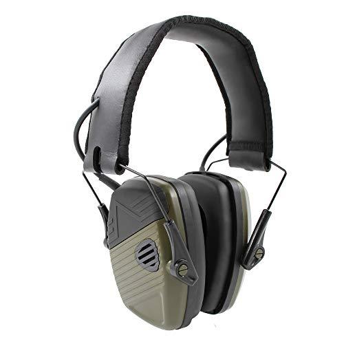 Impact Sport Faltbarer Gehörschutz, Inf Protear Noise Reduction Safety Ohrenschützer mit Geräuschverstärkung und automatischer Geräuschunterdrückung, für Schießen und Jagen, NRR 22 dB