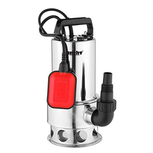 Hecht Elektro-Schmutzwasser-Pumpe 3011 Tauchpumpe mit var. Schwimmerschalter (1100 Watt, 16.000 l/h, Fremdkörper bis 35 mm, Förderhöhe 10 m)