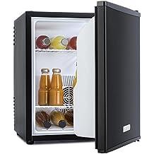 Klarstein MKS-50 mininevera minibar (40 L, 83 W, silencioso, estantes extraíbles, peso reducido, diseño ultracompacto, clase A) - negro