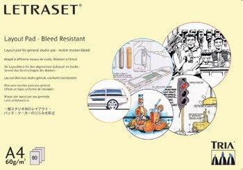 Letraset - Blocco di carta per evidenziatori, resistente alla sbavatura, 60 g/mq, 80 fogli, A3
