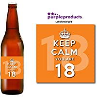 Keep Calm Orange you are 18 Happy 18th