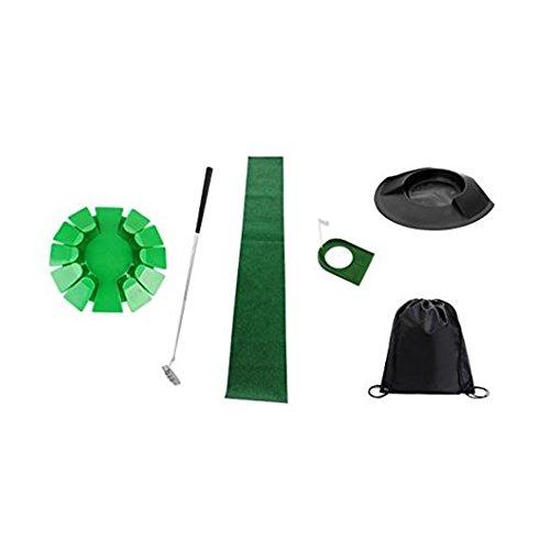 Putting Cup Golf Loch Trainingshilfe Bundle Set+ Putting Cup, abnehmbarer Putter