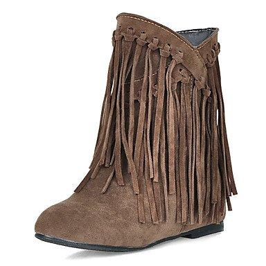 Joe de bottes pour femmes hiver neige bottes robe/bout rond talon compensé avec pompon Noir/marron/jaune/beige/autres jaune
