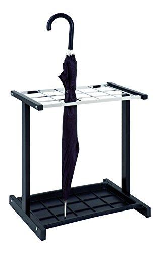 Haku-Möbel 26564 Schirmständer, 35 x 48 x 51 cm, schwarz/Chrom -