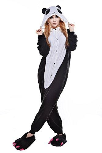 Tier Onesie Kostüme Kigurumi Cute Panda Pyjama Schlafanzug Erwachsene Unisex Mann Dame Cosplay Jumpsuit Onesie (Kostüme Panda Cute)