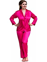 5cb148d626 Nine X- Plus Size Lingerie S-6XL Satin Pyjamas Long Sleeve Nightwear Black  PJ s