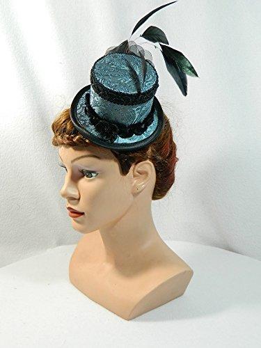 Mini-Zylinder grau Damenhut Fascinator Hut -