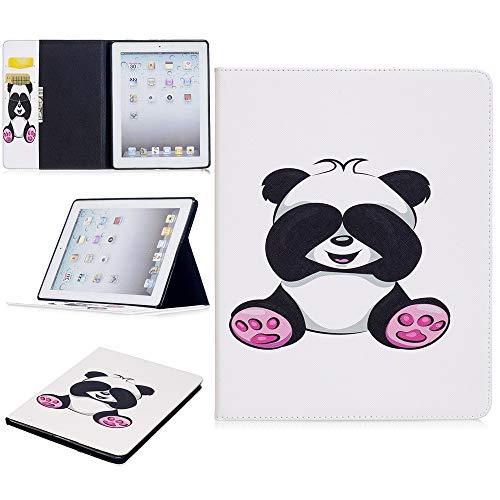 JUFENGYAO Niedlicher Panda-Eulen-Schmetterlings-Blumen-Entwurfs-Tablet-Standplatz-Kartenschlitz-Kasten kompatibel mit für iPad 2./3 ./4. Generation Tablethülle (Pattern : 2) - 2. Ipad Blumen Generation Cases