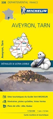 Carte Aveyron, Tarn Michelin