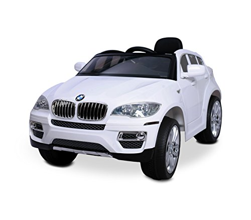LT 847 Coche eléctrico para niños BMW X6 monoplaza 12V con control remoto - Blanco