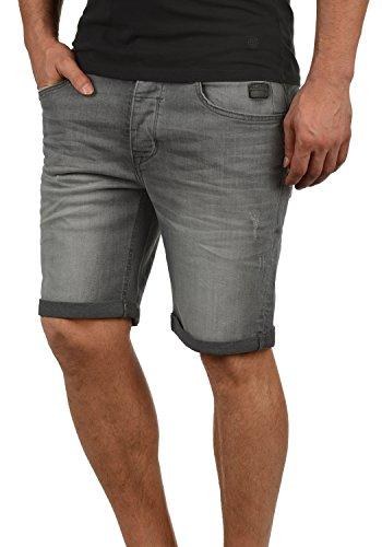 Blend Martels Herren Jeans Shorts Kurze Denim Hose mit Destroyed-Optik aus Stretch-Material Slim Fit, Größe:L, Farbe:Denim Grey (76205)