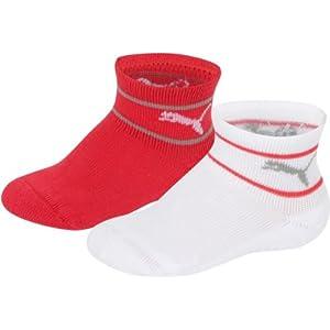 Puma - Socks Mini Cats Lifestyle Terry 2P, Calzino unisex, White/Grey, 15-18