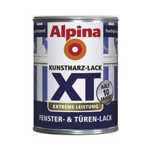 ALPINA XT Kunstharz Fenster & Türen Lack hochglänzend,weiß, 250 ml