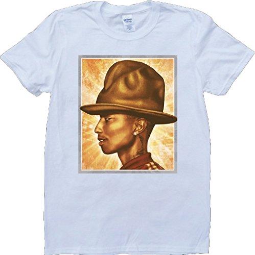 Pharrell Williams Weiß Benutzerdefinierten Gemacht T-Shirt Weiß