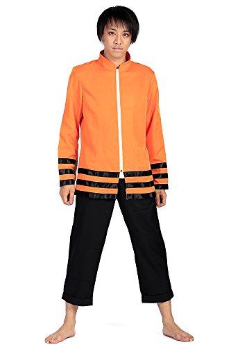 De-Cos Naruto Shippuden Cosplay Hidden Leaf Nanadaime Hokage Full Outfit Set (Hokage Naruto Kostüm)
