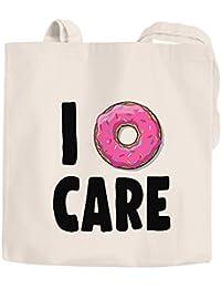 e7c6523d815a3 Jutebeutel I Donut care I do not care don´t care Baumwolltasche Stoffbeutel  Tragetasche Moonworks® natur 2 lange…