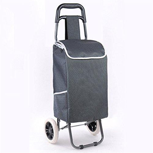 LISH Treppenhaus einkaufen Faltbare Haushalts tragbare gepolsterte Wasserdichte Oxford Tasche stumm Rad Trolley kann 75 kg Gewicht standhalten (Farbe : B)