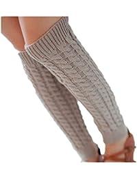 ZARU 1 par Mujeres de la manera caliente calentadores de punto Crochet calcetines largos para el otoño invierno
