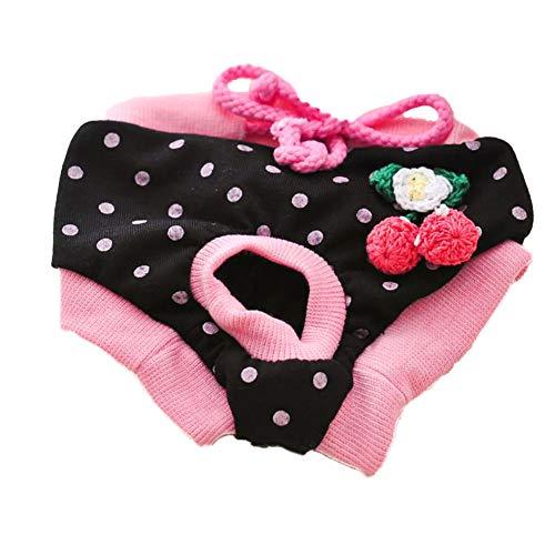 Kostüm Zeitraum - song rong M Pet Physiologische Zeitraum Panties Female Hunde Physiologische Zeitraum Sanitary Sicherheit Menstrual Pants Black Cherry