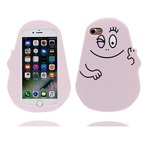 iPhone 7 Plus Custodia, iPhone 7 Plus Copertura 5.5, TPU morbido durobile del fumetto sveglio Il nuovo Case 3D protezione completa del corpo graffia resistente [ Cover 3D Orso del giocattolo Disney ] Rosa