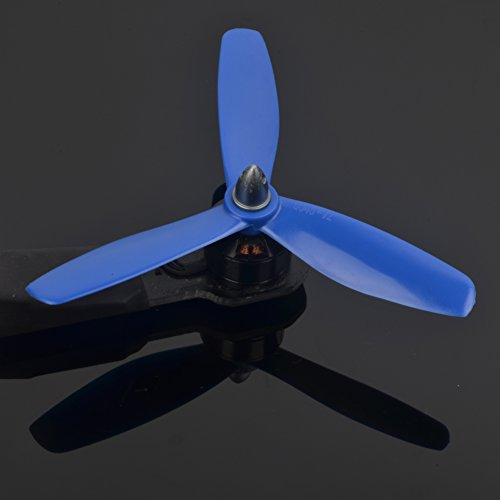 Preisvergleich Produktbild Tri-Klingen 5045 V2 Propeller (8 Sätze, 16CW, 16CCW) 5 Zoll 3 Klingen 5045x3 Unzerstörbar Dauerhaft Leistungsstark Ausgewogen Leichte Props für Drone Von XSOUL - BLAU
