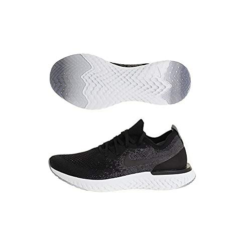 1b63757543 Nike Herren Epic React Flyknit Sneakers Mehrfarbig Black/Dark Grey/Pure  Platinum 001,