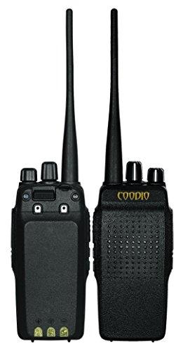 Coodio C69 Pareja Walkie-Talkie [Profesional] [DSP Audio] 10W UHF 400-480MHz 16-Canales Doble radio de dos vías transceptor 2800mAh Batterie Cargador (Par)