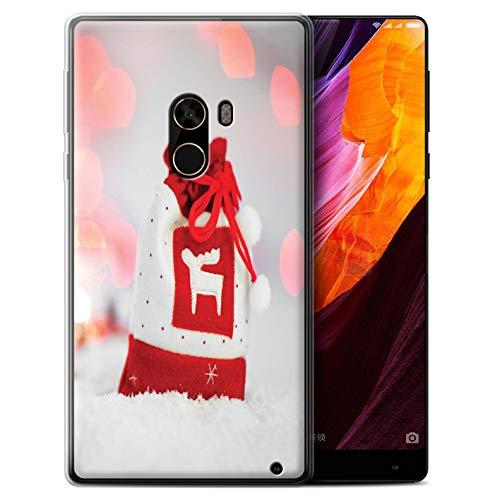 Stuff4® Gel TPU Hülle/Case für Xiaomi Mi Mix 2 / Rentier Strumpf Muster/Weihnachts Festliche Jahreszeit Kollektion