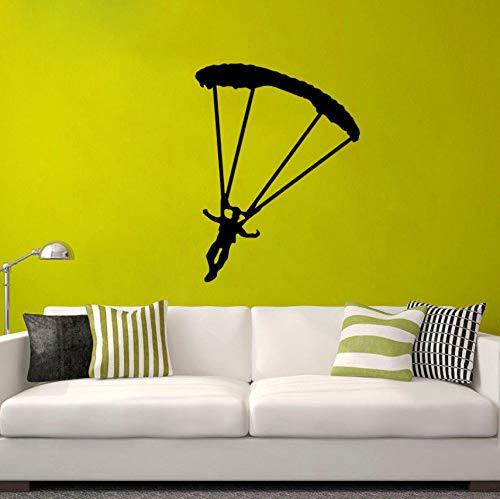 Fallschirm Sport Wohnzimmer Das Schlafzimmer Wandaufkleber PVC 45x60cm personalisiert