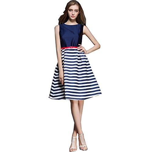 Royal Export women's Tafetta and Japan Satin Western Dress (blue, Small)