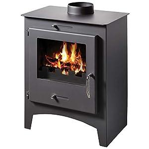 Estufa de leña quemador de troncos de chimenea multicombustible de 8/11 KW Bora