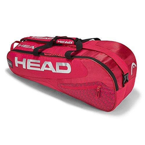 HEAD Elite 6R Combi Tennisschläger Tasche, Unisex, Elite 6R Combi, Rot/Rot