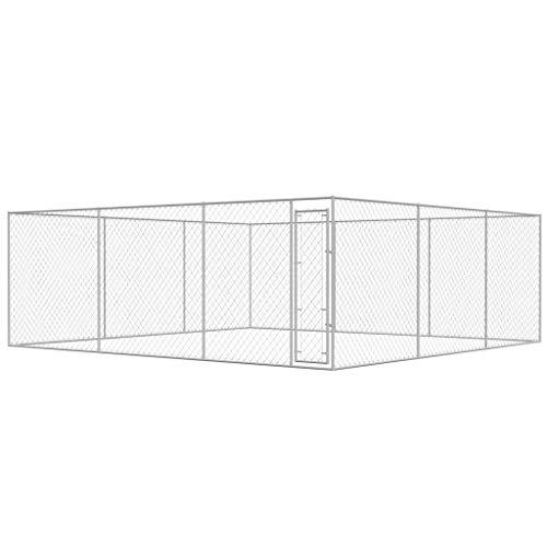 Premium XXL Outdoor-Hundezwinger für Draußen mit Tür | 6x6 m | Hundehütte Hundekäfig Hundehaus Hütte | außen Auslauf