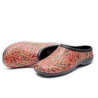 backdoorshoes® Chilli Design Mens Size UK 8-14 EU 42-48 Waterproof Garden Clog Shed Shoe (UK13 / EU47)
