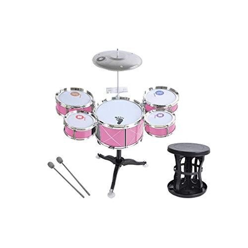 X-Tamburo dei bambini Tamburo per Bambini Strumento A Percussione Set di Batteria per Musica Precoce di Puzzle (Colore : Rosa)