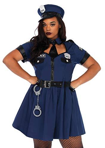 Polizei Kostüm Damen Xxl - Leg Avenue 86681X Flirty Cop Kostüm,