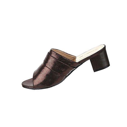 Damen Schuhe Sandalen Mit Strass Besetzte Bronze