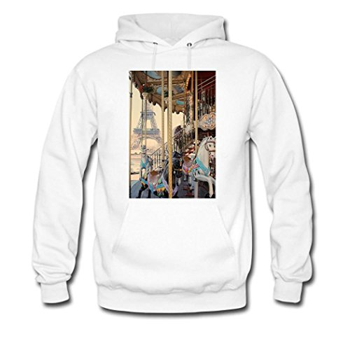 weileDIY Cafe Terrace at Night by Vincent van Gogh DIY Custom Women's Printed Hoodie Sweatshirt White_B
