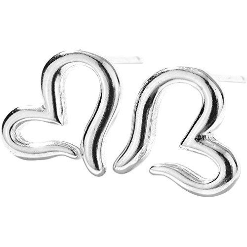 arbeit Silber Ohrringe Lovely Herz Form Ohrringe Ohrstecker Schmuck Accessoires für Frauen Mädchen Geschenk ()
