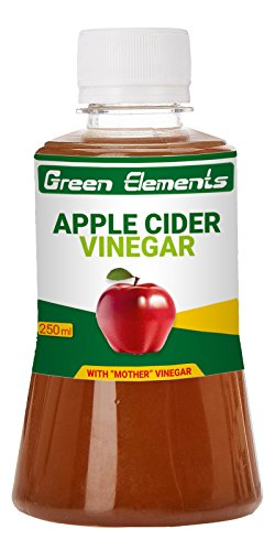 Green Elements - Apple Cider Vinegar (Raw, Unprocessed and Unrefined) with Mother Vinegar, 250ml  available at amazon for Rs.149